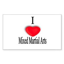Mixed Martial Arts Rectangle Decal
