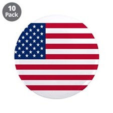 """American Flag 3.5"""" Button (10 pack)"""