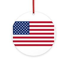 American Flag Ornament (Round)