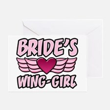 Bride's Wing-Girl Greeting Card