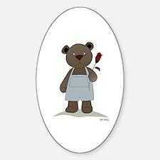 Oval Sticker - Little Brown Bear