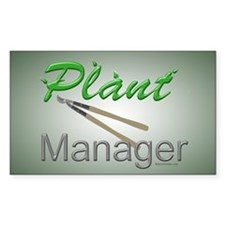 Plant Manager Rectangle Decal
