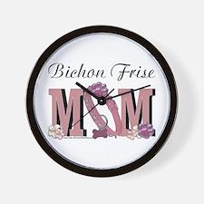 Bichon Frise Mom Wall Clock