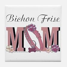 Bichon Frise Mom Tile Coaster