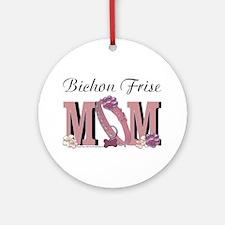 Bichon Frise Mom Ornament (Round)