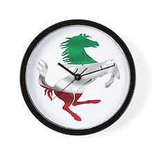 Italian Stallion Italy Flag Wall Clock