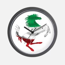 Italian Stallion Italy Flag Wall Clock