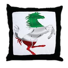 Italian Stallion Italy Flag Throw Pillow