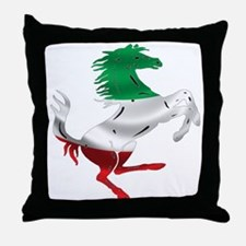 Italian Stallion Italy Flag Throw Pillow