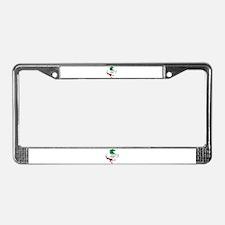 Italian Stallion Italy Flag License Plate Frame