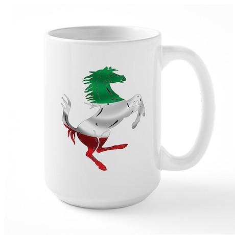 Italian Stallion Italy Flag Large Mug