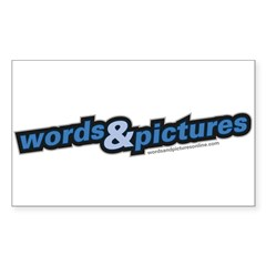 Words & Pictures Rectangle Decal