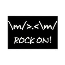 Rock On! Rectangle Magnet