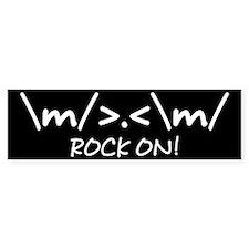 Rock On! Bumper Bumper Sticker