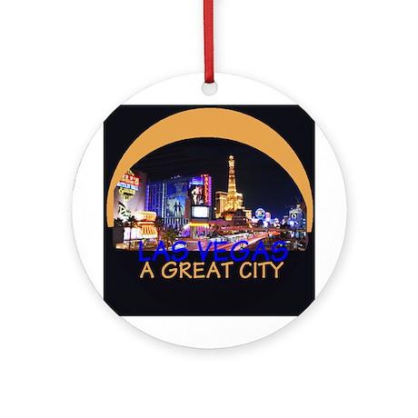 City Las Vegas Ornament (Round)