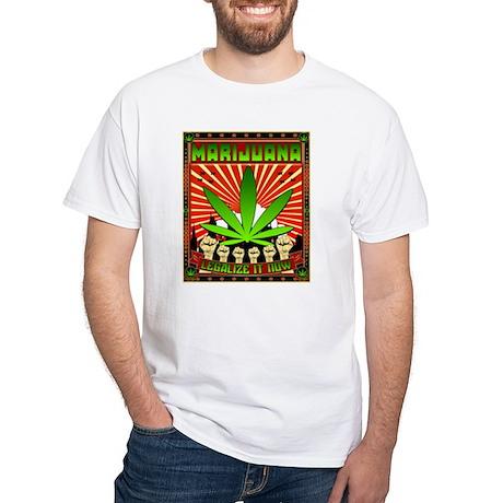 MARIJUANA PROPAGANDA ART White T-Shirt