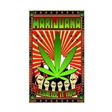 MARIJUANA PROPAGANDA ART Decal