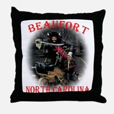 Blackbeard Beaufort, NC. Throw Pillow