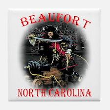 Blackbeard Beaufort, NC. Tile Coaster