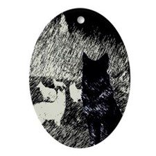 Moonlight Pack Oval Ornament