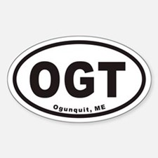 OGT Ogunquit Maine Euro Oval Decal