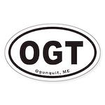 OGT Ogunquit Maine Euro Oval Sticker