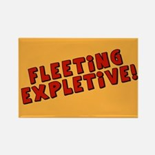 Fleeting Expletive Rectangle Magnet