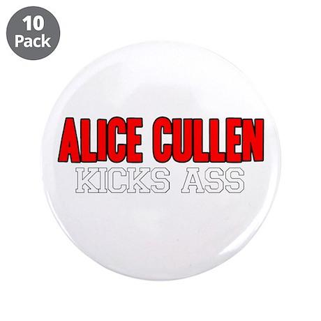 """Alice Cullen Kicks Ass 3.5"""" Button (10 pack)"""