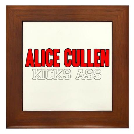 Alice Cullen Kicks Ass Framed Tile