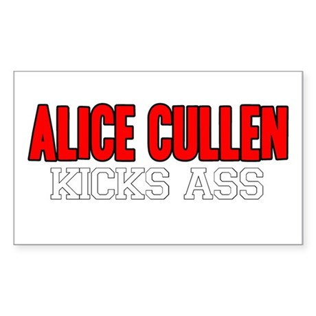 Alice Cullen Kicks Ass Rectangle Sticker