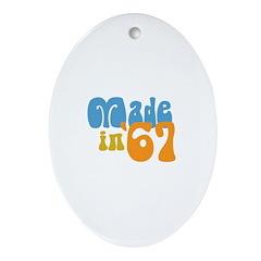 Made in 1967 (Retro) Oval Ornament
