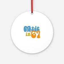 Made in 1967 (Retro) Ornament (Round)