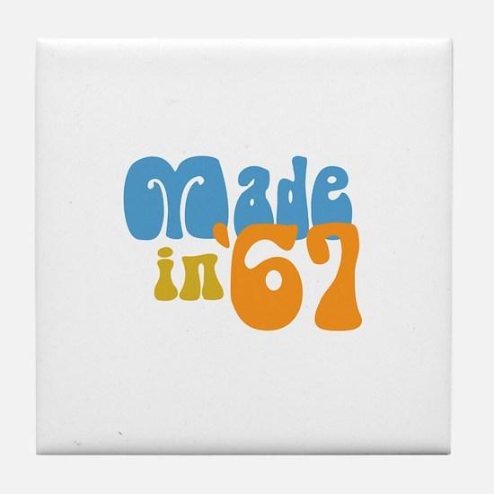 Made in 1967 (Retro) Tile Coaster