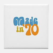 Made in 1970 (Retro) Tile Coaster