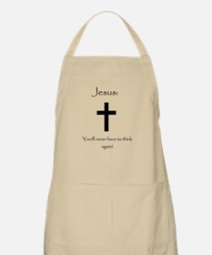 Jesus: No thought required! BBQ Apron