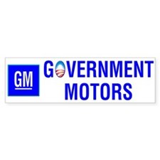GM: Government Motors -- Bumper Bumper Sticker