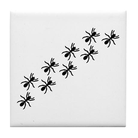 Black Ant Trail Tile Coaster