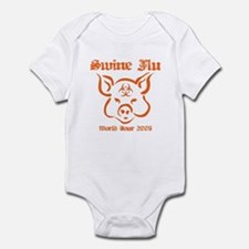 Swine Flu WT sketched Infant Bodysuit