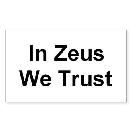 Zeus Rectangle Sticker