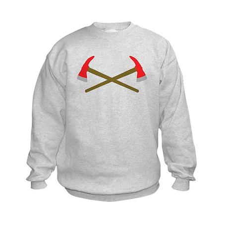 firefighter ax crossed Kids Sweatshirt
