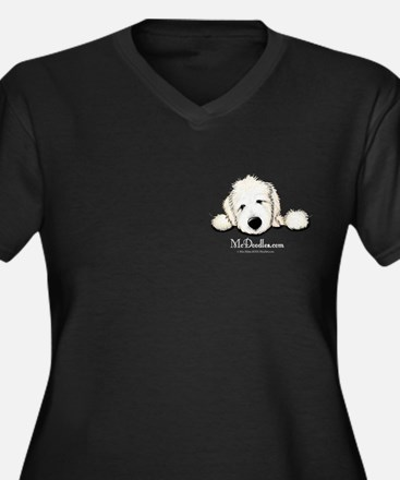 JACK English Goldendoodle Women's Plus Size V-Neck