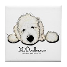 JACK English Goldendoodle Tile Coaster