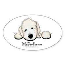 JACK English Goldendoodle Oval Decal
