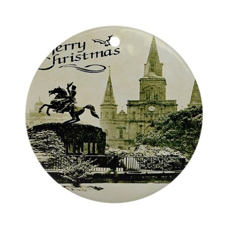 Old New Orleans Art Ornament (Round) by figstreetstudio