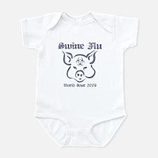 Swine Flu WT (gray) Infant Bodysuit