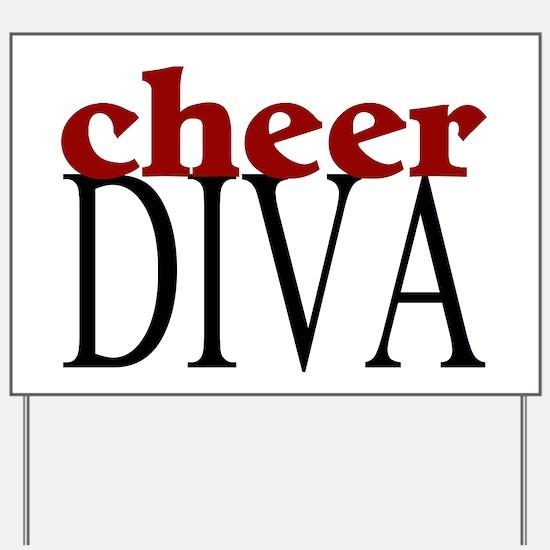 Cheer Diva Yard Sign