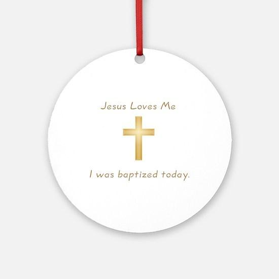 Baptism Gift Ornament (Round)
