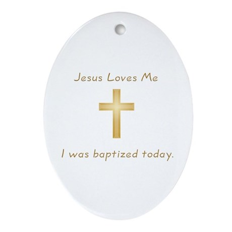 Baptism Gift Oval Ornament