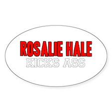 Rosalie Hale Kicks Ass Oval Decal