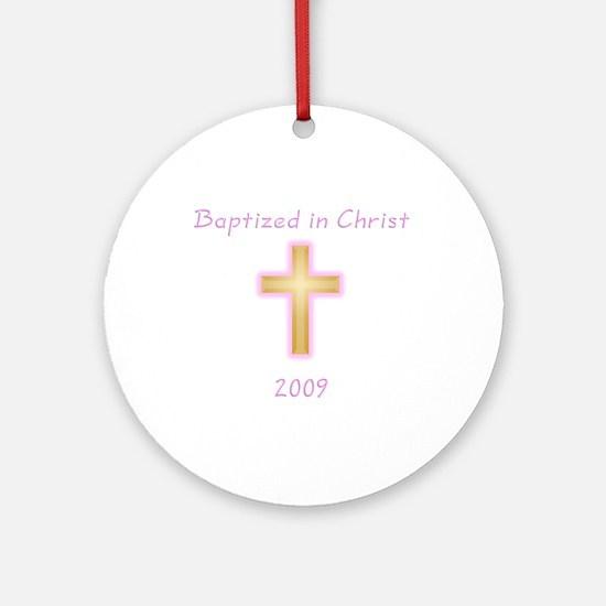 Baptism Girl Ornament (Round)